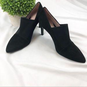 Taryn Rose Black suede heeled ankle booties